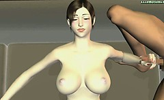 Animated hooker drinks hot sperm
