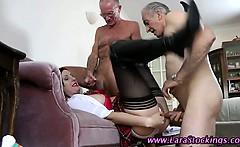 Stockinged mature amateur horny brit