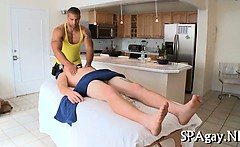 Sexy massage for gay chap
