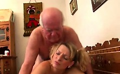 firm young girl fucks old hairy cock