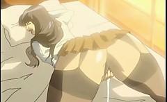 Japanese bigboobs hentai coed gets licked her nipples