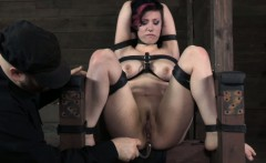 Chair tied up submissive anal fingered