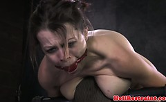 Restrained sub caned until red raw