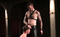 Dakota Wolfe bent for a flogging