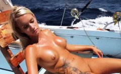 Babes try out terrifying gymnast moves and fishing