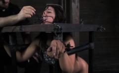 Spider gagged bitch gets punished