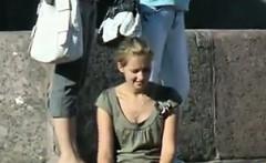teen upskirt outdoors