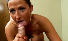 busty sexy brunette swinger girl does her first porn