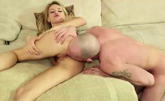 young daughter giving blowjob to older guy