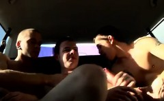 Gay clip of Hung Rugby Boy Used In The Back Seat