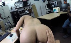 Dude sells his GF and watch her getting fuck in the pawnshop