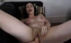 Irresistible busty brunette Vivi masturbates
