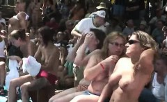 Outdoors sex event with many nude chicks