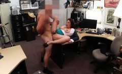Big boobs milf have sex with pawn man in the backroom