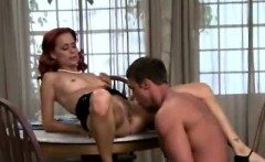 Beautiful Redhead Milf Sucks Young Dong In Her Kitchen