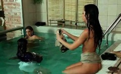 Very sexy young babes in the pool
