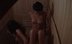 2 Girls Spied on in Public Sauna Room