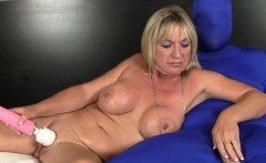 Mature Brandi Jaimes tugs while masturbating