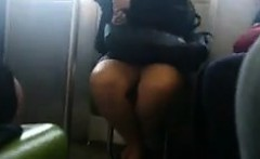 spying on thick legs in public on the metro