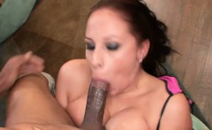 Gianna Michaels gets down on all fours and takes a deep,