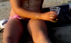 Exposed Sex on the nudist beach