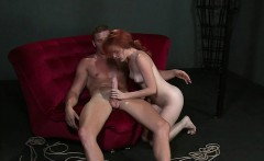 Pretty redhead sub fucks master in bdsm