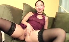 sexy asian chick tries to loo really filthy in this solo