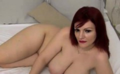 BBW Redhead Masturbation Webcam Show