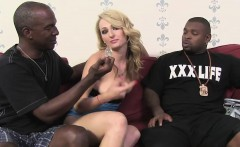 Euro Slut Natasha Starr Gets DP'd By Black Men
