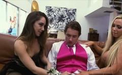 Sexy Nikki Benz licking and sucking a big hard cock