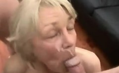 Slender Blonde Grandma Fucking And Facial