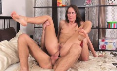 slim brunette hottie enjoys in anal porn videos making