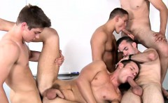 Gay college jocks have a classroom orgy