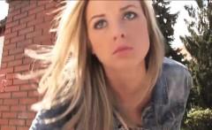 Pretty stranded teen Vinna Reed fucked by stranger in public