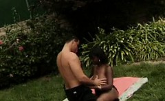 Ugly Ebony Slut Having Sex Outdoors