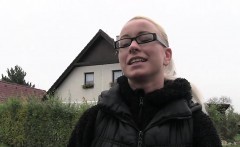 Euro blonde night vision public fuck