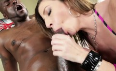 Sarah jay takes a veiny black shaft