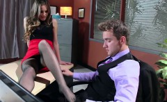 Abbey Brooks accompanies her stepdaughter to a job interview