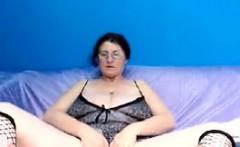 Naughty Grandma With Big Tits Masturbates