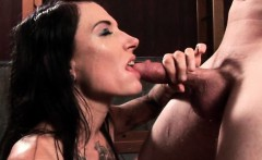 Kinky mistress giving hardcore BJ and biting cock
