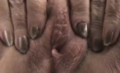 Granny Shows Off Her Pussy Close Up