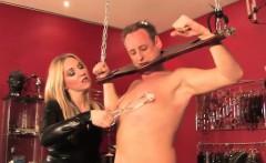 sadistic british mistress in painful iceplay