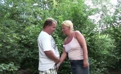 Street Whore BBW Milf get fucked Outdoor for Money in German