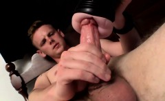 Brown hair dude Dallas lubes up sex toy to entertain himself