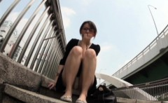 Asians pissing in public