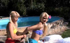 Naughty Teen Lesbian Couple At The Pool