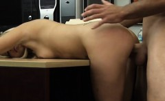 Babe pawns her pussy and gets pounded for her vets bill