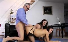 british lady lara latex fucked in threesome with older guy