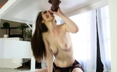 Pretty masseuse Penny Brooks sucks off cock and facialed