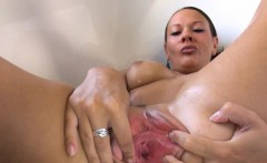 Gyno toy and hard pussy opening
